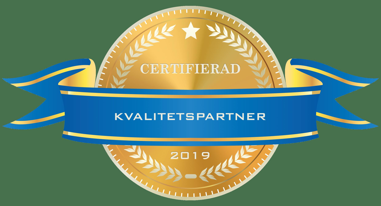 Kvalitetsparnter Certifierad 2019